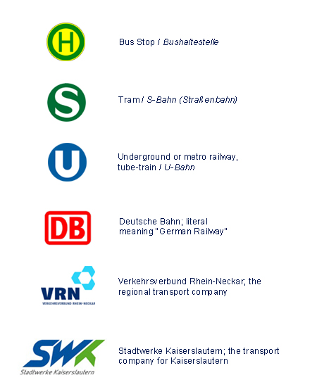 [Content not yet translated. Original:] Logos von verschiedenen Transportunternehmen